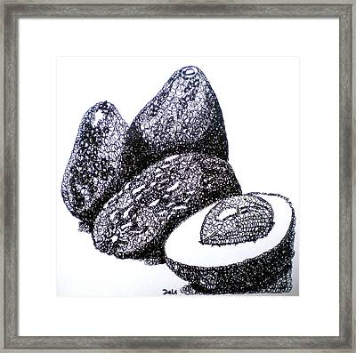Curly Avocados Framed Print by Debi Starr