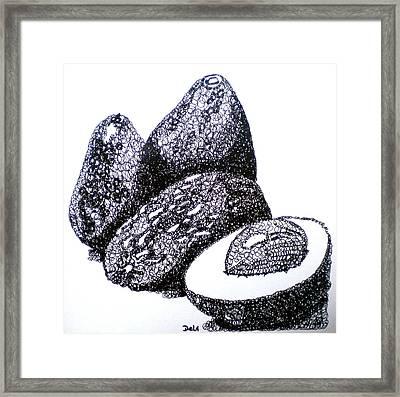 Curly Avocados Framed Print by Debi Starr