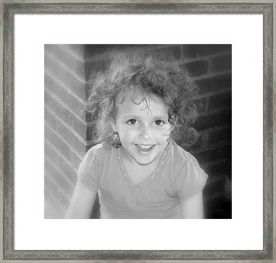 Curly Framed Print by Deborah  Crew-Johnson