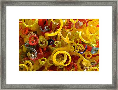 Framed Print featuring the photograph Curly Glass by Cheryl McClure