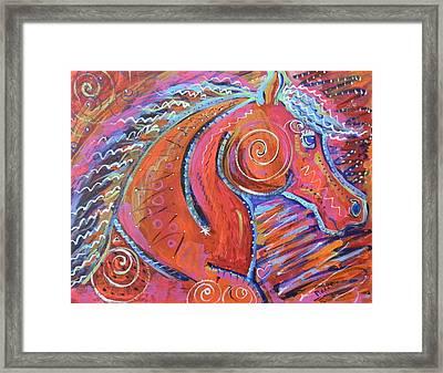 Curly Horse Framed Print