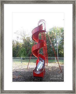 Curly Q Slide Framed Print