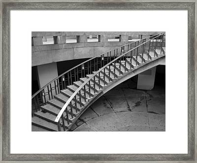 Curly Stairway Framed Print by Dorin Adrian Berbier