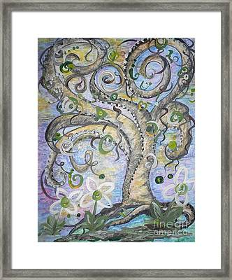 Curly Tree In Fantasy Land Framed Print by Eloise Schneider