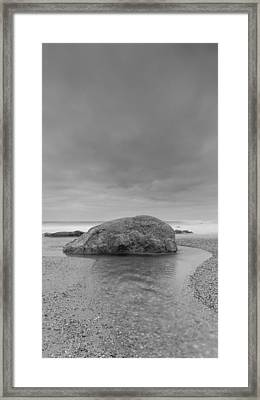 Curly Water Framed Print