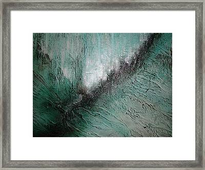 Current Of Greens Framed Print