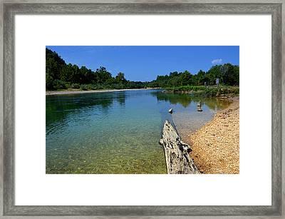 Current River Framed Print by Lena Wilhite
