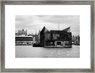 Currently Condemned Pier 64 On The Hudson River New York City Framed Print