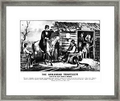 Currier & Ives The Arkansas Traveller Framed Print by Granger