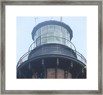 Framed Print featuring the photograph Currituck Beach Light by Cathy Lindsey