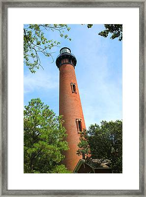 Currituck Beach Lighthouse Corolla North Carolina Outer Banks Obx Framed Print