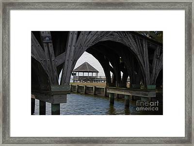 Framed Print featuring the digital art Currituck Inlet by Kelvin Booker