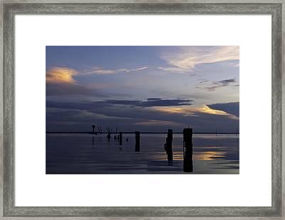 Currituck Sound Sunset Framed Print