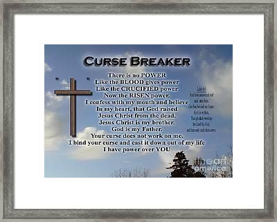 Curse Breaker Framed Print