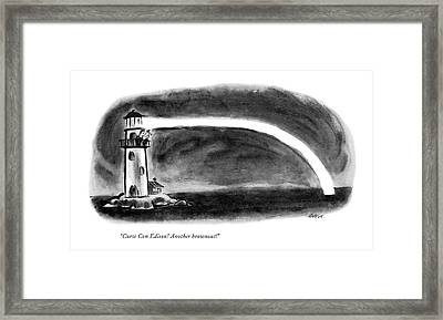 Curse Con Edison! Another Brownout! Framed Print by Lee Lorenz