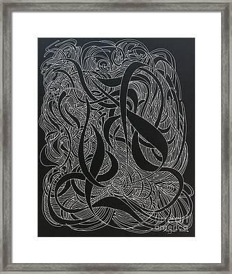 Cursive Curious 2 Framed Print by Nancy Kane Chapman