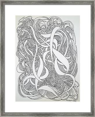 Cursive Curious Framed Print by Nancy Kane Chapman