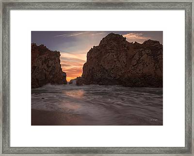 Curtain Call At Big Sur Framed Print