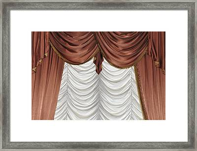 Curtain Framed Print by Matthias Hauser