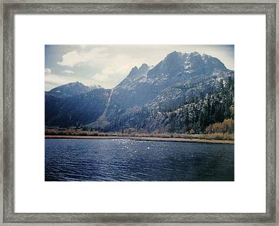 Curtain Of Rain Framed Print by Dusty Reed