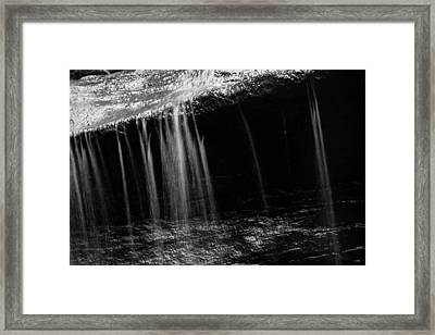 Framed Print featuring the photograph Curtain Of Water by Haren Images- Kriss Haren
