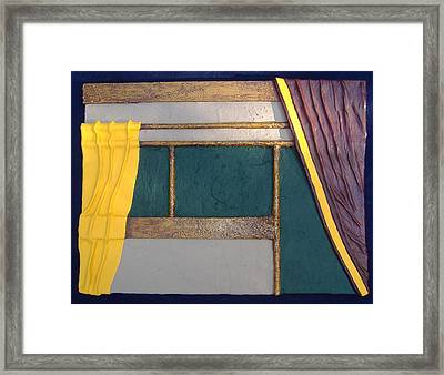 Curtain Framed Print