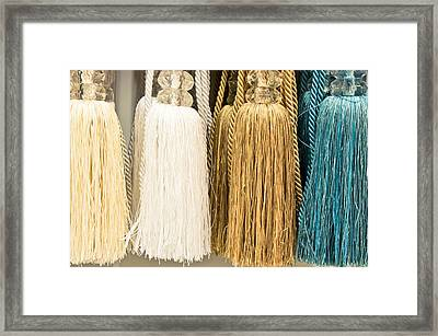 Curtain Ties Framed Print by Tom Gowanlock