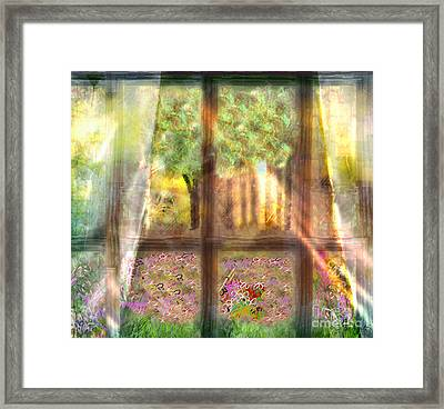 Curtains Framed Print by Gabrielle Schertz