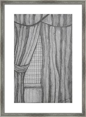 Curtains In A5 Framed Print