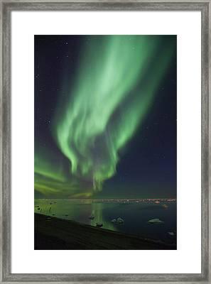 Curtains Of Aurora Borealis Framed Print