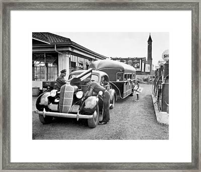 Curtis Aerocar Gets Gas Framed Print