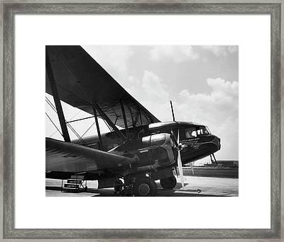 Curtis Condor Sleeper Biplane Framed Print by Underwood Archives