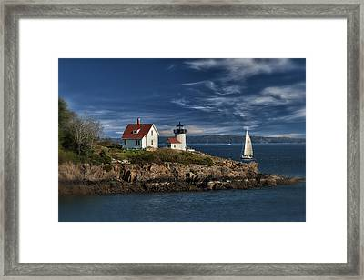 Curtis Island Lighthouse Maine Img 5988 Framed Print by Greg Kluempers