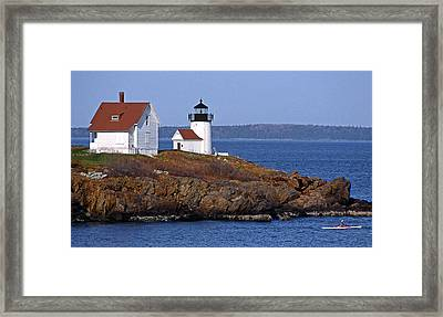 Curtis Island Lighthouse Framed Print by Skip Willits