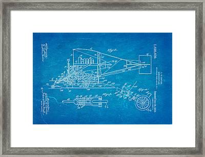 Curtiss Hydroaeroplane Patent Art 2 1922 Blueprint Framed Print by Ian Monk