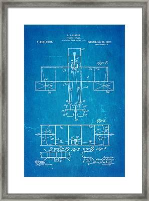 Curtiss Hydroaeroplane Patent Art 3 1922 Blueprint Framed Print by Ian Monk
