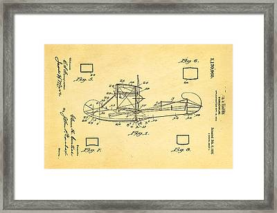 Curtiss Hydroplane Patent Art 1916 Framed Print by Ian Monk