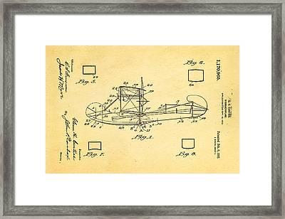 Curtiss Hydroplane Patent Art 1916 Framed Print