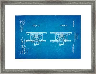 Curtiss Hydroplane Patent Art 3 1916 Blueprint Framed Print by Ian Monk