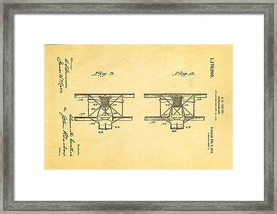 Curtiss Hydroplane Patent Art 3 1916 Framed Print by Ian Monk