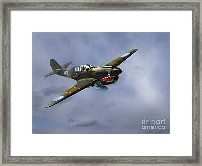 Curtiss P-40 Warhawk Framed Print by Diane Diederich