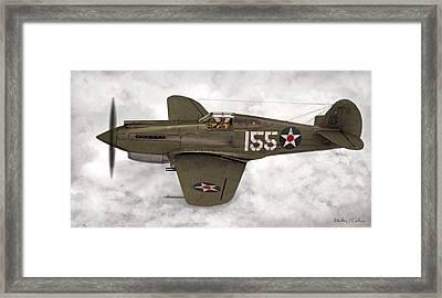Curtiss P-40 Warhawk Framed Print by Walter Colvin