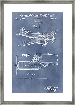 Curtiss-wright Cw-25 Patent Framed Print