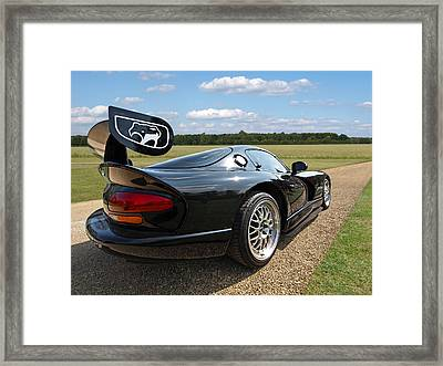 Curvalicious Viper Framed Print by Gill Billington