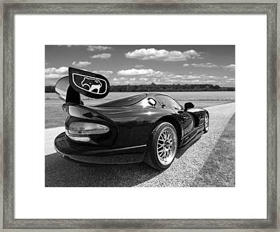 Curvalicious Viper In Black And White Framed Print by Gill Billington