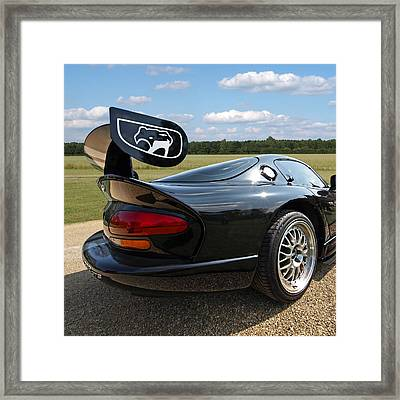 Curvalicious Viper - Square Framed Print by Gill Billington