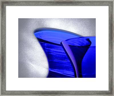 Curvature 5...shadows Framed Print by Tom Druin