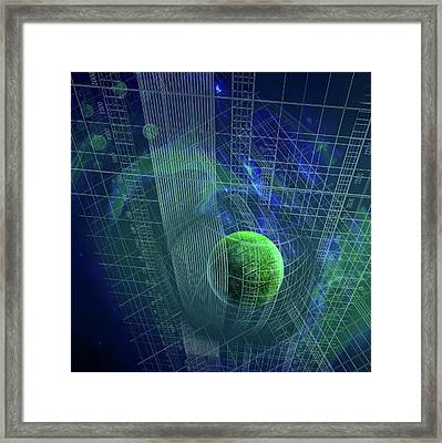 Curvature Of Space-time Framed Print by Harald Ritsch