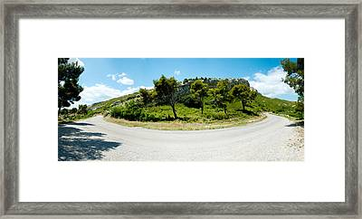 Curve In The Road, Bouches-du-rhone Framed Print