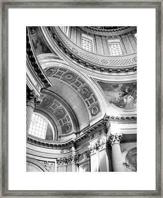 Curve Meets Pillar Framed Print by Jenny Hudson